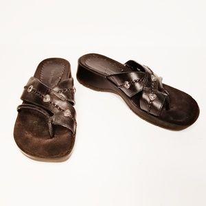 Baretraps Obvious Black Sandals Slides Size 7